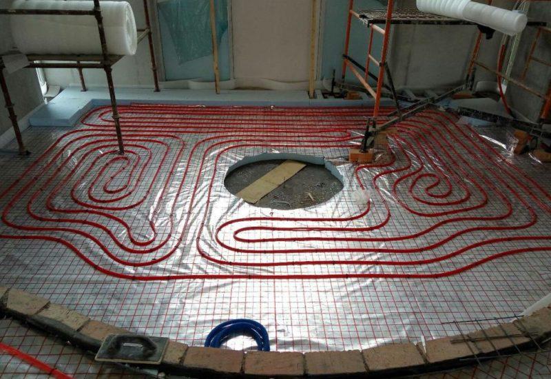 Монтаж систем напольного и радиаторного отопления