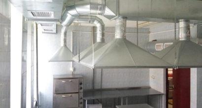 Монтаж приточно-вытяжной вентиляции с местными отсосами воздуха