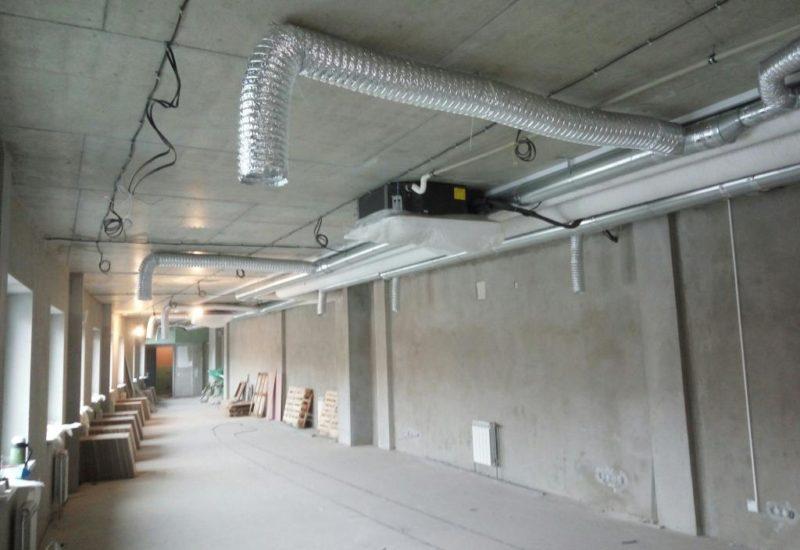 Монтаж системы кондиционирования и вентиляции в офисе